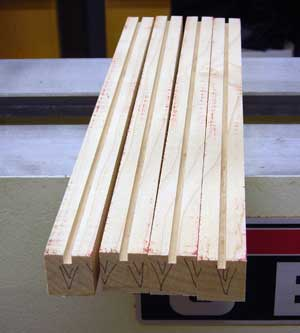 grooved maple staves
